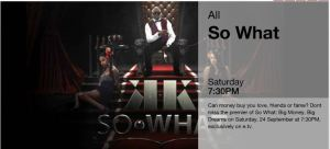 So What premiers on ETV on Saturday 7h30pm