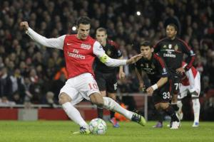 Arsenal against Ac Milan