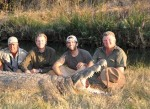 Donald Trump sons hunting crocodile in africa