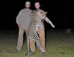 Donald Trump sons hunting Leopard in Africa