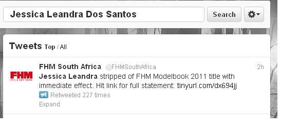 FHM Jessica Dos Santos Racist Tweets