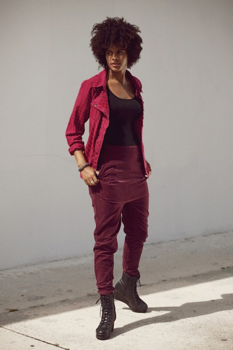 Autumn burgandy clothes